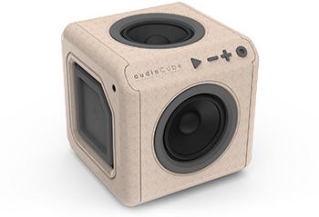 AudioCube ~ آئدیوکیوب شارژی با بدنه طرح چوب