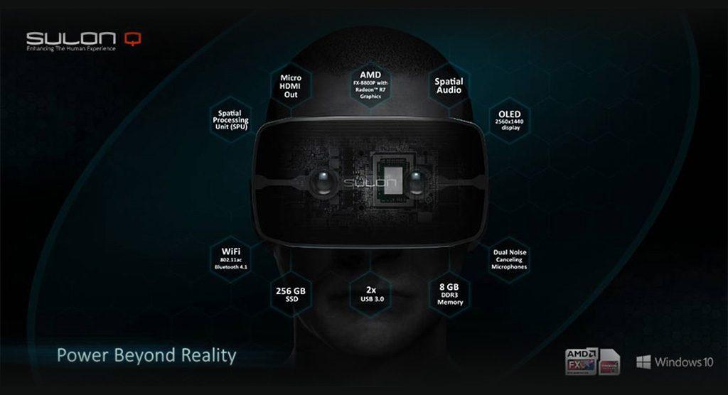 AMD و معرفی هدست واقعیت مجازی Sulon Q