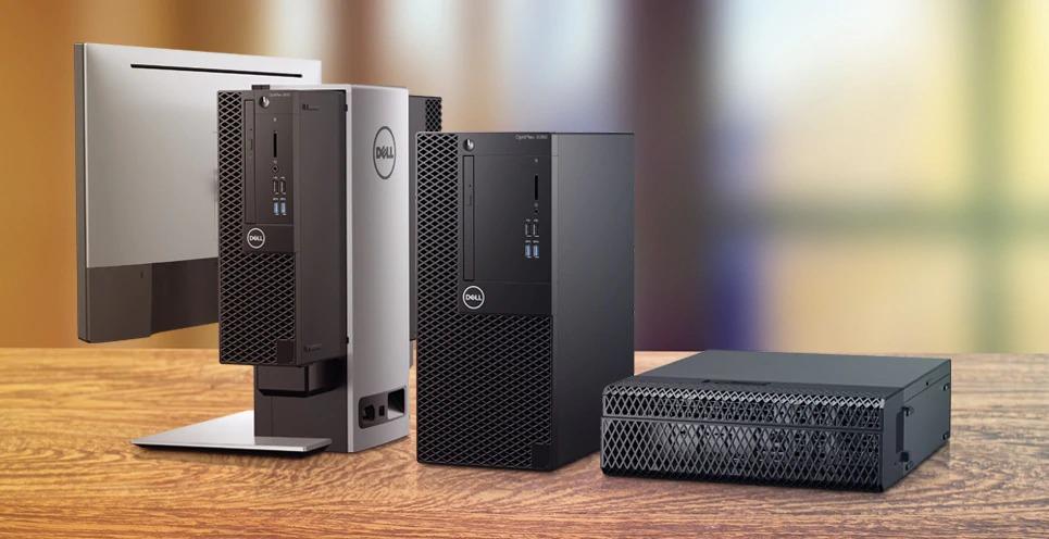 DELL OptiPlex 3060 8th gen Intel® Core™ i3-8500T 4 GB DDR4-SDRAM 128 GB SSD Black MFF Mini PC